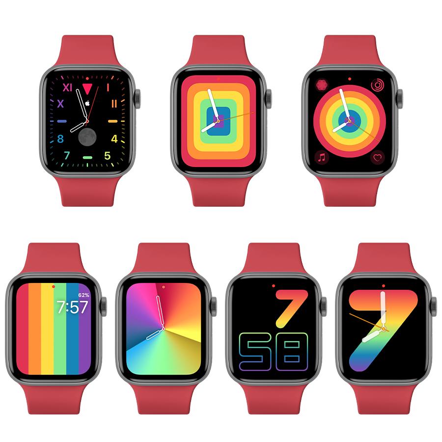 watchOS 6.2.5、Apple Watch、彩虹錶面