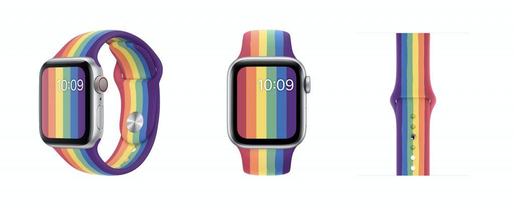 Apple Watch 錶帶、2020 彩虹錶帶、彩虹錶帶、LGBTQ