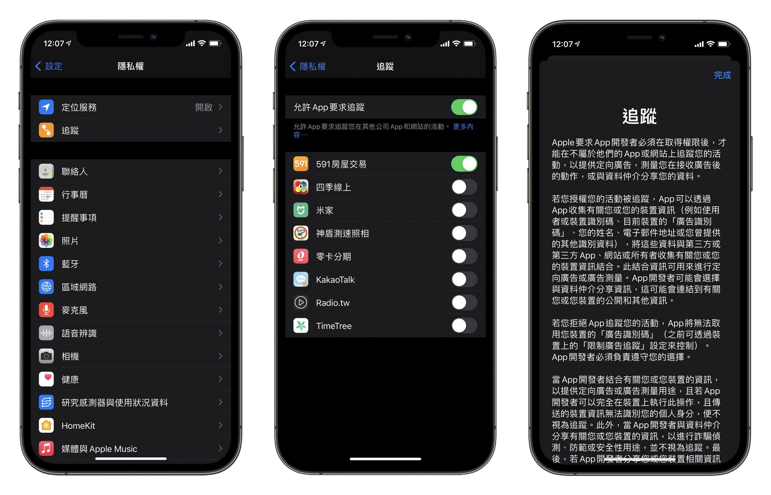 iOS 14.5、隱私權、App 追蹤